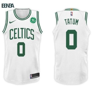 Maillot NBA Boston Celtics NO.0 Jayson Tatum Blanc 2017-18 Outlet