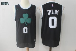 Maillot NBA Boston Celtics NO.0 Jayson Tatum Tout Noir 2017-18 Outlet