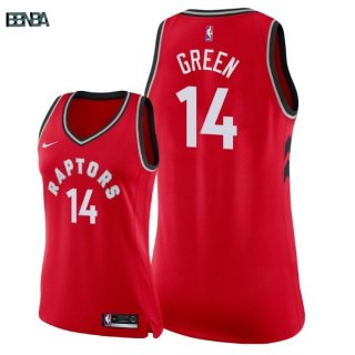 Maillot NBA Mujer Toronto Raptors NO.14 Danny Green Rouge Icon 2018 Outlet