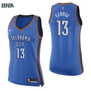 Maillot NBA Mujer Oklahoma City Thunder NO.13 Paul George Bleu Icon 2017-18 Outlet