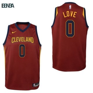 Maillot NBA Enfant Cleveland Cavaliers NO.0 Kevin Love Rouge Icon 2017-18 Outlet