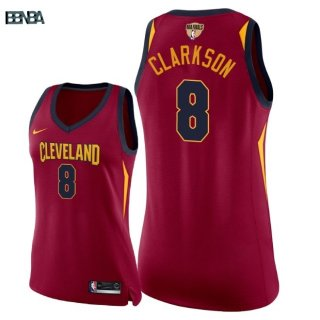 Maillot NBA Mujer 2018 Finales Cleveland Cavaliers NO.8 Jordan Clarkson Rouge Ico Outlet