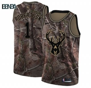 Maillot NBA Milwaukee Bucks NO.1 Oscar Robertson Camo NBA Swingman Realtree Collection 2018 Outlet
