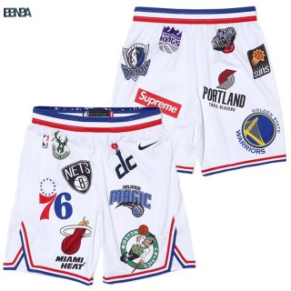 Pantalon NBA Supreme x Nike Logo Blanc Outlet