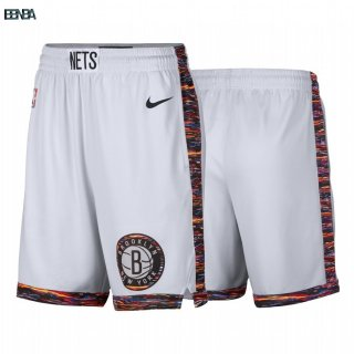 Pantalon NBA Brooklyn Nets Nike Blanc Ville 2019-20 Outlet
