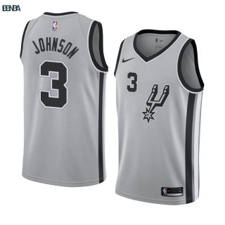 Maillot NBA Nike San Antonio Spurs NO.3 Keldon Johnson Gris Statement 2019-20 Outlet