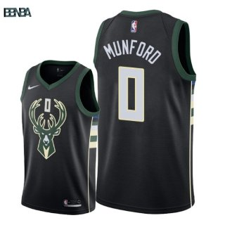 Maillot NBA Milwaukee Bucks NO.0 Xavier Munford Noir Statement 2018 Outlet