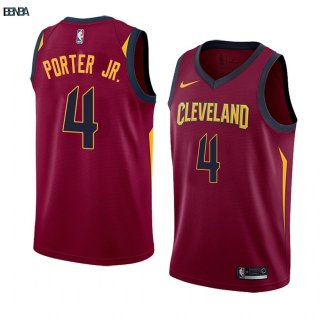 Maillot NBA Nike Cleveland Cavaliers NO.4 Kevin Porter Jr. Blanc Icon Outlet