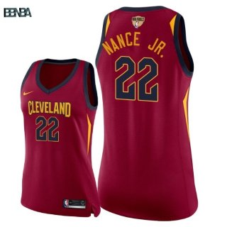 Maillot NBA Mujer 2018 Finales Cleveland Cavaliers NO.22 Larry Nance Jr Rouge Ico Outlet
