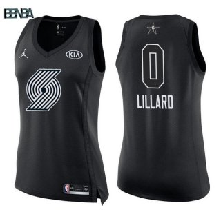 Maillot NBA Mujer 2018 All Star NO.0 Damian Lillard Noir Outlet