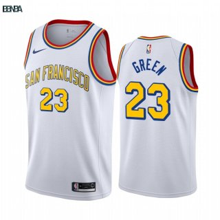 Maillot NBA Nike Golden State Warriors NO.23 Draymond Green Blanc Classics Edition 2019-20 Outlet