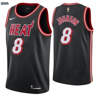 Maillot NBA Miami Heat NO.8 Tyler Johnson Retro Noir 2018 Outlet