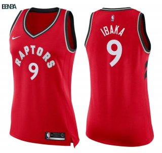 Maillot NBA Mujer Toronto Raptors NO.9 Serge Ibaka Rouge Icon 2018 Outlet