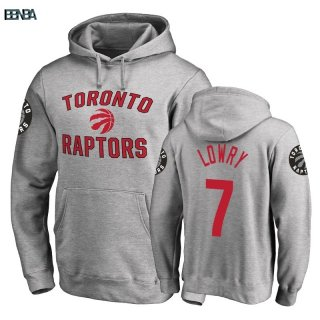 Hoodies NBA Toronto Raptors NO.7 Kyle Lowry Gris Outlet
