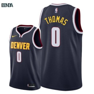 Maillot NBA Denver Nuggets NO.0 Isaiah Thomas Marine Icon 2018-19 Outlet
