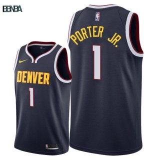 Maillot NBA Denver Nuggets NO.1 Michael Porter Jr Marine Icon 2018-19 Outlet