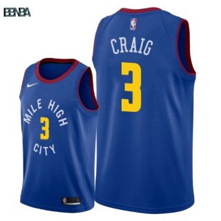 Maillot NBA Denver Nuggets NO.3 Torrey Craig Bleu Statement 2018-19 Outlet
