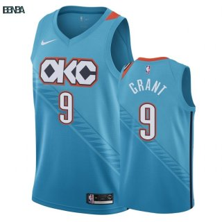 Maillot NBA Oklahoma City Thunder NO.9 Jerami Grant Nike Turquoise Ville 2018-19 Outlet