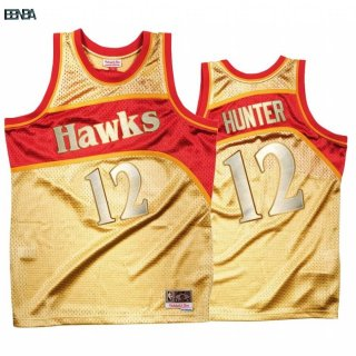 Maillot NBA Atlanta Hawks Once More Limited NO.12 De'andre Hunter Or Hardwood Classics Outlet