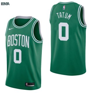 Maillot NBA Boston Celtics NO.0 Jayson Tatum Vert Icon 2017-18 Outlet