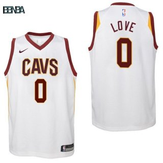 Maillot NBA Enfant Cleveland Cavaliers NO.0 Kevin Love Blanc Association 2017-18 Outlet