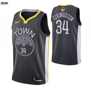 Maillot Golden State Warriors Finales Champions 2019 NO.34 Shaun Livingston Gris Statement Outlet