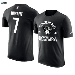 T-Shirt NBA Brooklyn Nets Never Stops NO.7 Kevin Durant Noir Outlet