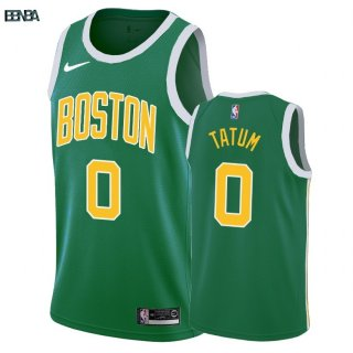 Maillot NBA Earned Edition Boston Celtics NO.0 Jayson Tatum Vert 2018-19 Outlet