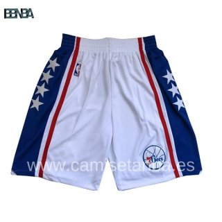Pantalon NBA Philadelphia 76ers Blanc Bleu Outlet