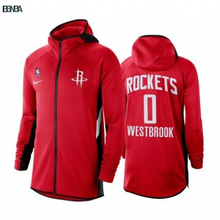 Hoodies NBA Houston Rockets NO.0 Russell Westbrook Rouge Outlet