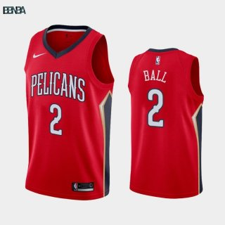 Maillot NBA Nike New Orleans Pelicans NO.2 Lonzo Ball Rouge Statement 2019-20 Outlet