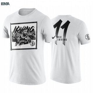 T-Shirt NBA Brooklyn Nets Kyrie Irving Blanc Outlet