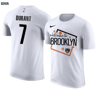 T-Shirt NBA Brooklyn Nets Welcome NO.7 Kevin Durant Blanc Outlet