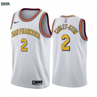 Maillot NBA Nike Golden State Warriors NO.2 Willie Cauley Stein Blanc 2019-20 Outlet
