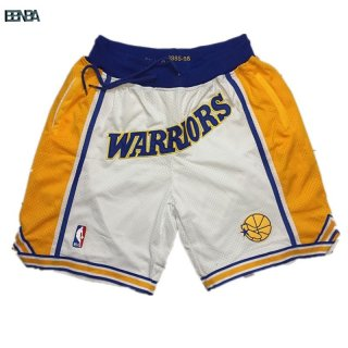 Pantalon Basket Golden State Warriors Curry Blanc Outlet