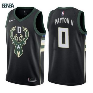 Maillot NBA Milwaukee Bucks NO.0 Gary Payton II Noir Statement 2017-18 Outlet