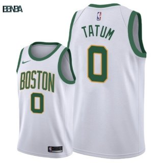 Maillot NBA Boston Celtics NO.0 Jayson Tatum Nike Blanc Ville 2018-19 Outlet