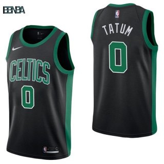 Maillot NBA Boston Celtics NO.0 Jayson Tatum Noir Statement 2017-18 Outlet