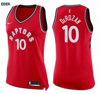 Maillot NBA Mujer Toronto Raptors NO.10 DeMar DeRozan Rouge Icon 2018 Outlet