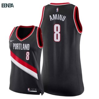 Maillot NBA Mujer Portland Trail Blazers NO.8 Al Farouq Aminu Noir Icon 2018 Outlet