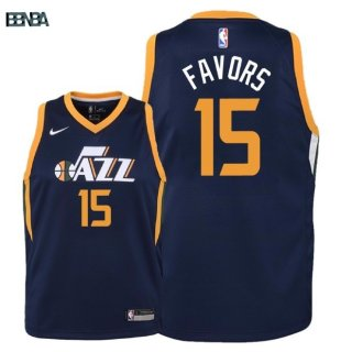 Maillot NBA Enfant Utah Jazz NO.15 Derrick Favors Marine Icon 2018 Outlet