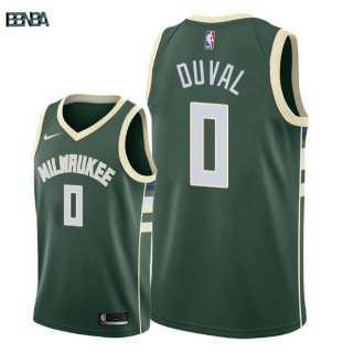 Maillot NBA Milwaukee Bucks NO.0 Trevon Duval Vert Icon 2018 Outlet