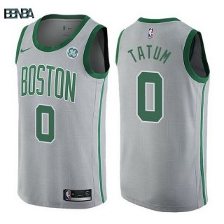 Maillot NBA Boston Celtics NO.0 Jayson Tatum Gris Ville 2017-18 Outlet
