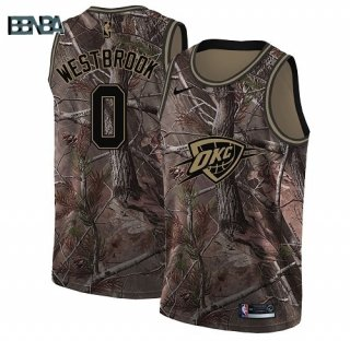 Maillot NBA Oklahoma City Thunder NO.0 Russell Westbrook Camo NBA Swingman Realtree Collection 2018 Outlet